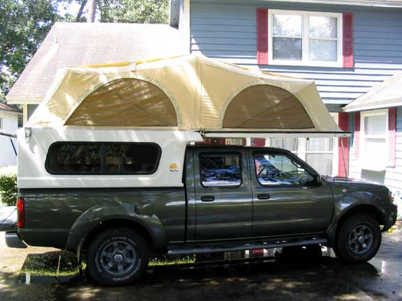 2003 Nissan Frontier With Tent Camper