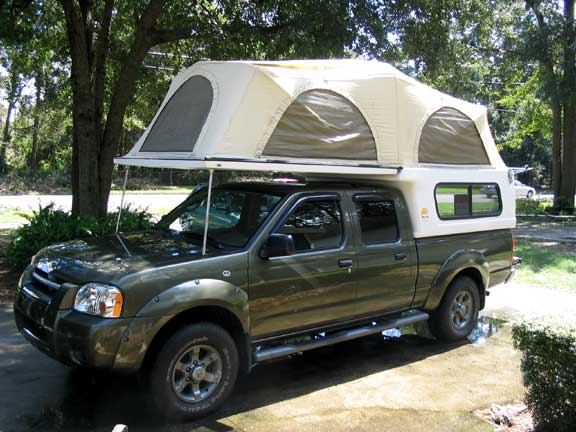 2003 nissan frontier with tent camper nissan frontier camper top at Nissan Frontier Camper